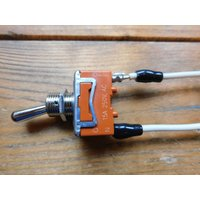 トグルスイッチプレート フラット&文字プレート 1個用 リード線付き インダストリアル|lamps1122|05