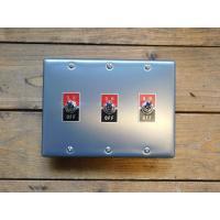 トグルスイッチプレート フラット&文字プレート 3個用 インダストリアル lamps1122