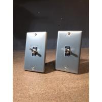 トグルスイッチプレート フラット&BLACK文字プレート 1個用 インダストリアル|lamps1122|03