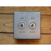 トグルスイッチプレート WHEEL PRESS&STAMP ホイールプレス&スタンプ 2個用 リード線付き インダストリアル lamps1122