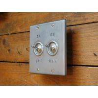 トグルスイッチプレート WHEEL PRESS&STAMP ホイールプレス&スタンプ 2個用 リード線付き インダストリアル lamps1122 02