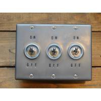 トグルスイッチプレート WHEEL PRESS&STAMP ホイールプレス&スタンプ 3個用 リード線付き インダストリアル|lamps1122