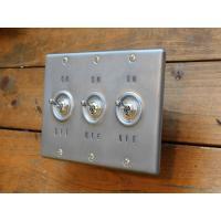 トグルスイッチプレート WHEEL PRESS&STAMP ホイールプレス&スタンプ 3個用 リード線付き インダストリアル|lamps1122|02