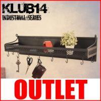 【ポイント】 インダストリアルインテリア「KLUB14」シリーズのウォールシェルフ。少し錆びかかった...