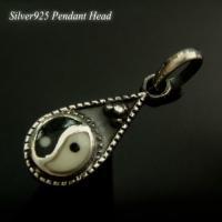 silver925 バチカン部分も入れた全体サイズ:約24x8mm インヤン部分:直径約7mm 厚さ...