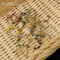 フリーサイズリング全部で20色 カラービーズ装飾足指リング トゥリング トウリング ピンキィリング