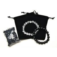 令和福袋 黒水晶&ヒマラヤ水晶 10mm 天然石 お試しポッキリ価格!豪華5点セットVer.1_A739