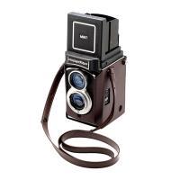二眼レフインスタントカメラ InstaxFlex TL70専用レザーケース&ストラップセット  カメ...