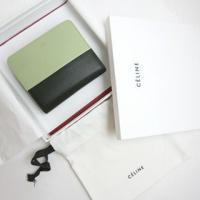 CELINE:セリーヌ 新作  BIカラー 二つ折り小財布 ピスタチオ(PISTACHIO)