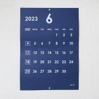 カレンダー A3 壁掛け ネイビー 白文字 2019年4月始まり選択可能 中綴じ