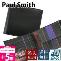 ポールスミス Paul Smith 財布 二つ折り財布 メンズ ミニクーパープリント/ブラック AP...
