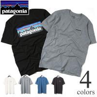 patagonia(パタゴニア)の定番P-6ショートスリーブTシャツ。  自然環境の保護に取り組むパ...