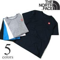 THE NORTH FACE(ザ ノースフェイス)のロゴとスローガンを シンプルにプリントしたショー...