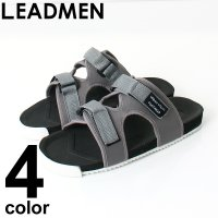 メンズサンダル/メンズスポーツサンダル  プレーンなデザインと3連ベルトの2タイプ トレンド感溢れる...