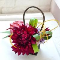 和華ウェディングブーケ 和装 和 造花 ブライダル 和婚 小物 花嫁 着物 前撮り 千代箱