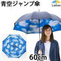 ジャンプ傘 青空 60cm  傘の中はいつも青空。雨でも気分は晴れやかになりそうな雨傘。  ■サイズ...