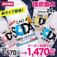 炭酸水 500ml 24本 最安値に挑戦 送料無料 強炭酸 無糖 ZAO SODA プレーン レモン ライフドリンクカンパニー LDC