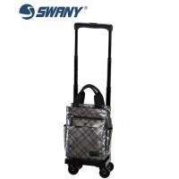 SWANY スワニー ウォーキングバッグ D-233 タルタン シルバーチェック TS15 5L・23304