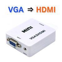 HDMI端子の無いPC・ゲーム・レコーダー等のVGA出力を、 繋ぐだけで簡単に大型テレビ・プロジェク...