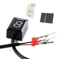 ホンダ(HONDA)バイク専用デジタルギアインジケータ LED 小型 6ギア表示 取付簡単 バイクデジタルギア ポジションインジケータ 液晶文字ブルー LP-DGP05HND