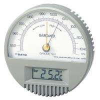 デジタル温度計付気圧計。置針により気圧の変化がわかります。 また、ABS樹脂製の壁面固定用フランジが...