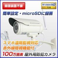 防犯カメラ 録画機不要 SDカード 録画 屋外 設置簡単 監視カメラ 家庭用  CMOSイメージセン...