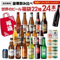 送料無料 世界のビール豪華飲み比べ福袋22種24本 輸入ビール セット 贈答 長S