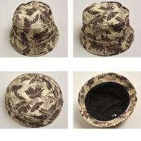 メンズ レディース コットンツイルプリントバケットハット 帽子 ハット 総柄 通販M