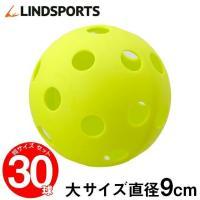 野球 バッティング練習 ボール 穴あき 大サイズ 30球セット トレーニングボール 室内練習 ソフトボール LINDSPORTS リンドスポーツ