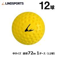 ディンプルボール 中 1ダース 12球入 野球 ソフトボール バッティング トレーニングボール 練習用 LINDSPORTS リンドスポーツ