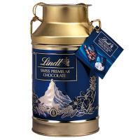 【公式】中には一口大のナポリタンチョコレートが6種類入り、缶のデザインはスイスの象徴、マッターホルン...
