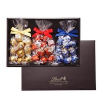 【公式】スイスのプレミアムチョコレートブランド、リンツのギフトボックス3個入り。きちんとした場面の贈...