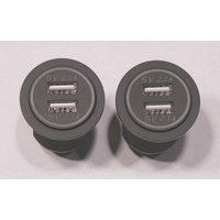 spyderextras製 CAN-AM SPYDER RT用 5V2.1A USB×2×2 ドッキングステーション 〜2019年モデル用|lirica-store|04