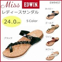 【代引き不可】Miss EDWIN(ミスエドウィン) レディースサンダル 24.0cm EW9457