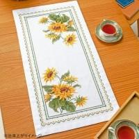 クロスステッチししゅうキット。上品で華やかな美しい花たちをクロス・ステッチで表現しました。 製造国:...
