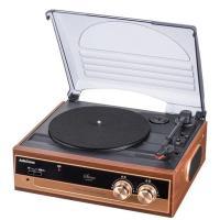 スピーカー内蔵で、気軽にレコードが聴けるプレーヤーです。ターンテーブルはオートストップ機能(切換式)...