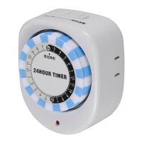 屋内専用・ギア式のタイマースイッチです。照明器具やAV機器、扇風機などをタイマースイッチに接続すると...
