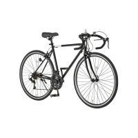 【商品名】ロードバイク 700c(約28インチ)/ブラック(黒) シマノ21段変速 重さ/14.6k...