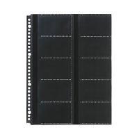 【商品名】(業務用セット) 名刺ホルダー用替台紙 30枚入 黒 【×5セット】
