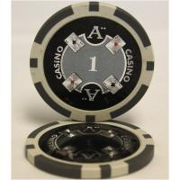 【商品名】Quattro Assi(クアトロ・アッシー)ポーカーチップ(1)白 <25枚セット>