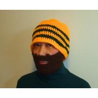 変なおじさん」スタイルのフェイスマスク 付き ニットキャップです。  <売れています> フェイスマス...
