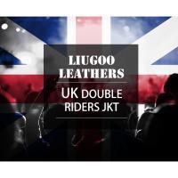 UKダブルライダースジャケット メンズ 本革 リューグーレザーズ DRY02A  ダブルライダース ライダースジャケット レザージャケット 革ジャン 皮ジャン ブラック