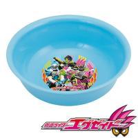 仮面ライダーエグゼイドのラーメン鉢です。軽いので、幼児にも扱いやすいです。底に柄があるので、頑張って...