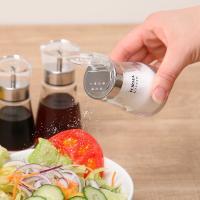 調味料入れ 塩 胡椒 80ml 蓋付き ガラス フォルマHG ( スパイスボトル 調味料ボトル 調味料容器 )