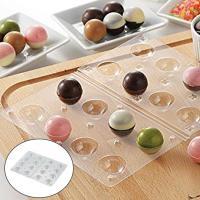 チョコレート型 ボール型 チョコモールド モールドキラリ ハロウィン タイガークラウン ( チョコレート 手作り チョコ 型 丸型 )