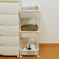 ●バスタオルやバスローブなど、サニタリー用品をたっぷり収納できます。●キャスター付きなので、移動がラ...