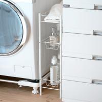 ●20cmのすき間を有効活用でき、整理整頓に便利なランドリーラックです。 ●洗濯機横や脱衣所の空きス...
