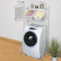 ●洗濯機上部を有効活用でき、整理整頓に便利なランドリーラックです。 ●市販のバスケットが置ける台付き...