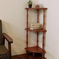 ●お部屋のコーナーを有効活用できます。小さいのでデッドスペースにもぴったりです。 ●天板は高級感のあ...