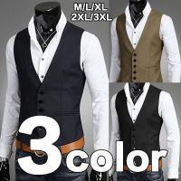 商品コード:vest-14 生地:コットン カラー:画像通り ブラック、ブラウン、ネイビー サイズ:...